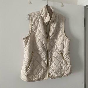 Ivory Lightweight Quilted Vest